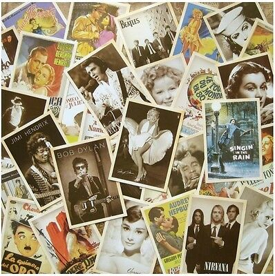 Lot of 32p Vintage Post card Postcard Postcards Movie Beatles/Marilyn Monro Idol