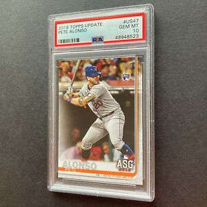 Pete Alonso 2019 Topps Update #US47 New York Mets Rookie Card PSA 10 Gem Mint