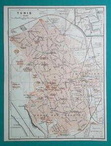 TUNISIA Tunis City Town Plan - 1911 MAP | eBay on