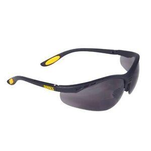 2 pair lot dewalt bifocal reading safety glasses smoke 2 5