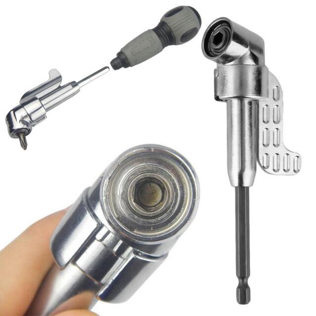 105°Angle 1/4 6mm Extension Hex Drill Bit Screwdriver Socket Holder Adaptor FTSS