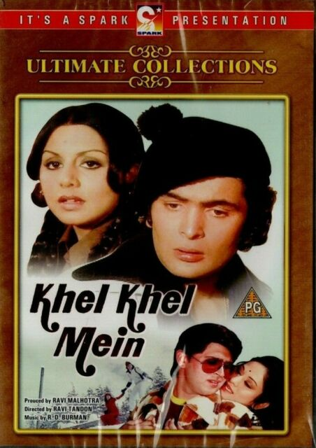 KHEL KHEL MEIN - SPARK BOLLYWOOD DVD - Rishi Kapoor, Neetu Singh, Rakesh Roshan.