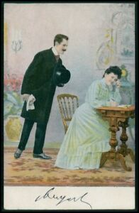 Silly In Love- 1900s Antique Postcard- Edwardian Couple