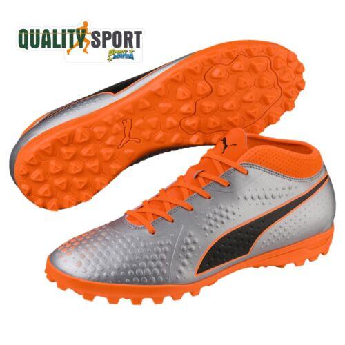 Puma One 4 Syn TT Grigio Arancione Uomo Scarpe Sportive Calcetto 104751 01