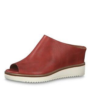 Tamaris Leather solette con 27200 Mule High Front modellate Chili Wedge rwrHBR