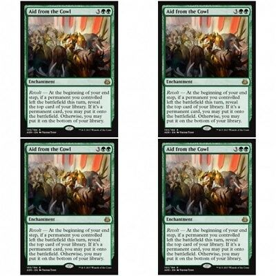 Magic the Gathering MTG 4x Aid from the Cowl Aether Revolt NM Rare Playset