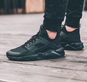 ac53f4f7950 Details about Nike Huarache Run Ultra Triple Black Shoes Sneakers Trainers  819685-002 Mens 11