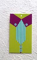 100 Hang Tags Retail Tags Cute Shirt & Tie Price Clothing Tags W/ Plastic Loops