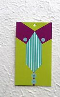 100 Hang Tags Retail Tags Cute Shirt & Tie Price Clothing Tags W/ Plastic Loops