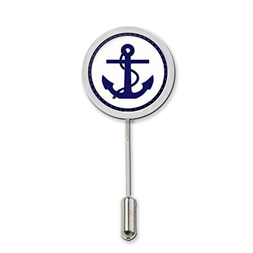 Anchor Stick Pin Badge With Protector Ideal Birthday Gift c499