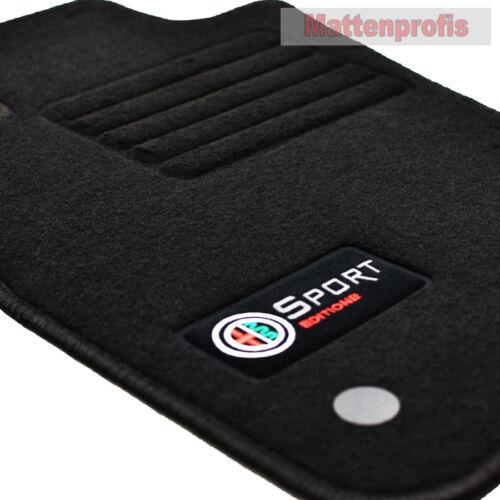 sw Velours Edition Fußmatten für Alfa Romeo Mito 955 ab Bj.2016