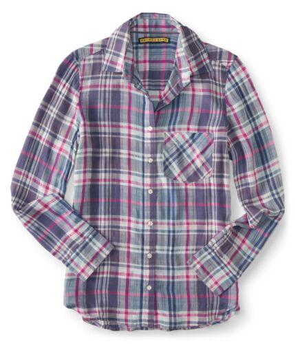 AERO Aeropostale Prince /& Fox Plaid  Button Down Shirts S,M,L,XL,2XL  NEW NWT!