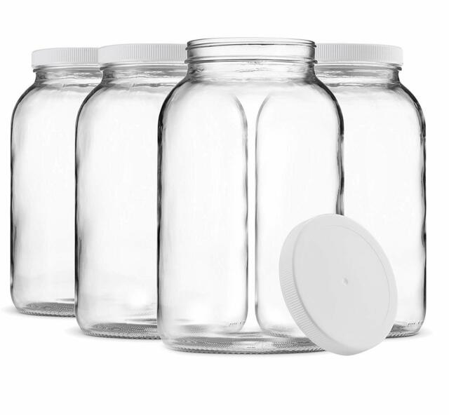 Paksh Novelty Glass Wide Mouth 4 Qt Canning Jar With Airtight Metal Lid For Sale Online Ebay