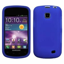 Silicone Skin Case for Samsung Galaxy Illusion i110 - Blue