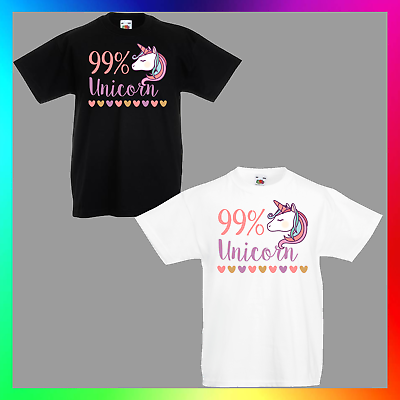FUNNY COOL CUTE TEE TOP Ladies or Unisex Styles 99/% UNICORN T-SHIRT