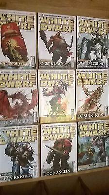 Accurato Raccolta Di Nove Riviste White Dwarf Warhammer Games Workshop-mostra Il Titolo Originale