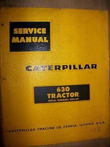 Caterpillar 630 52F1 TRACTOR 1960 : Service Manual