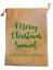 Christmas gift sacks Hessian Jute Style Drawstring PERSONALISED