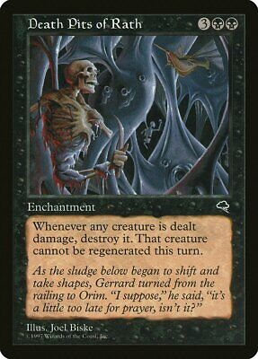 Death Pit Offering FOIL Nemesis NM-M Black Rare MAGIC GATHERING CARD ABUGames
