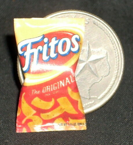 Dollhouse Miniature Fritos Chips 1:12 Tex Mexican Snacks Food Football Frito Pie