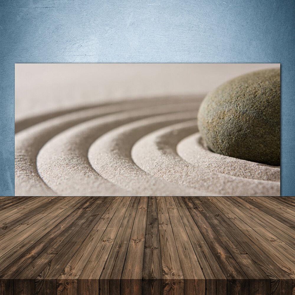 Crédence de cuisine en verre Panneau 140x70 Art Sable Pierre