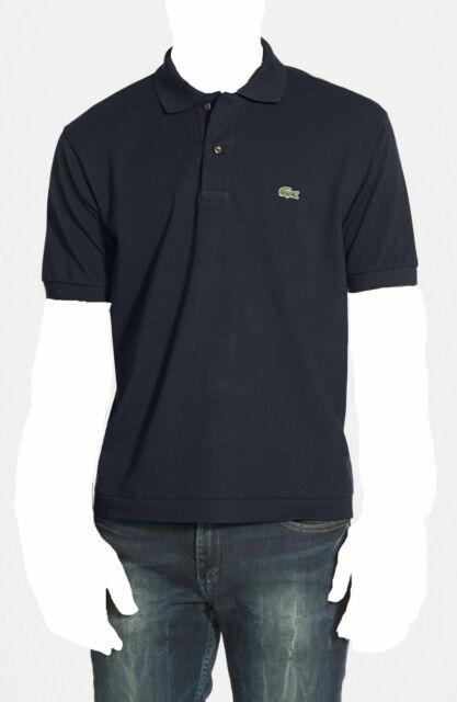 Lacoste Mens S/s Classic Fit 5191l Pique Navy Blue Polo Shirt 6 Large