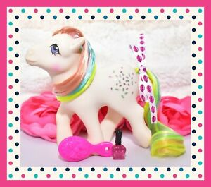 My-Little-Pony-MLP-G1-Vintage-1984-CONFETTI-Rainbow-Pony-Glitter-Symbols
