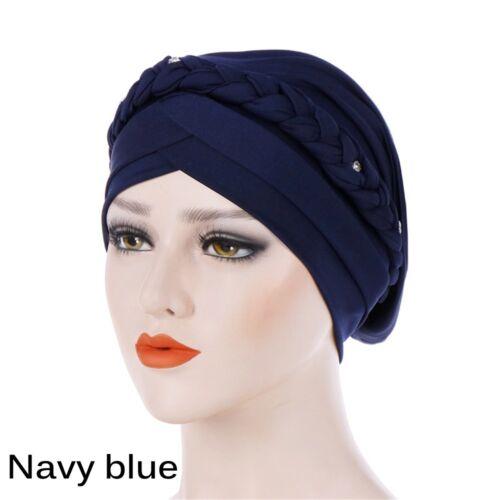 Head Wrap Head Scarf  Hair Loss Stretch Hat Cancer Chemo Cap Braid Muslim Hijab