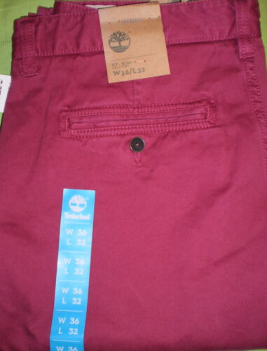 Timberland Uomo Thompson LAGO Twill Chino Slim//Pantaloni Stile 6652J
