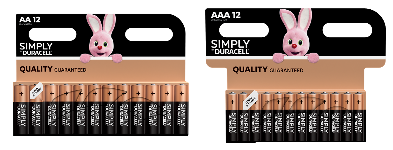 24 x Duracell AA 12 & AAA 12 Simply Alkaline Batteries 1.5V Mixed Economy Pack