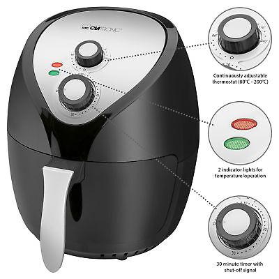 Freidora sin aceite aire caliente 3,6 l termostato temporizador 1400W Clatronic
