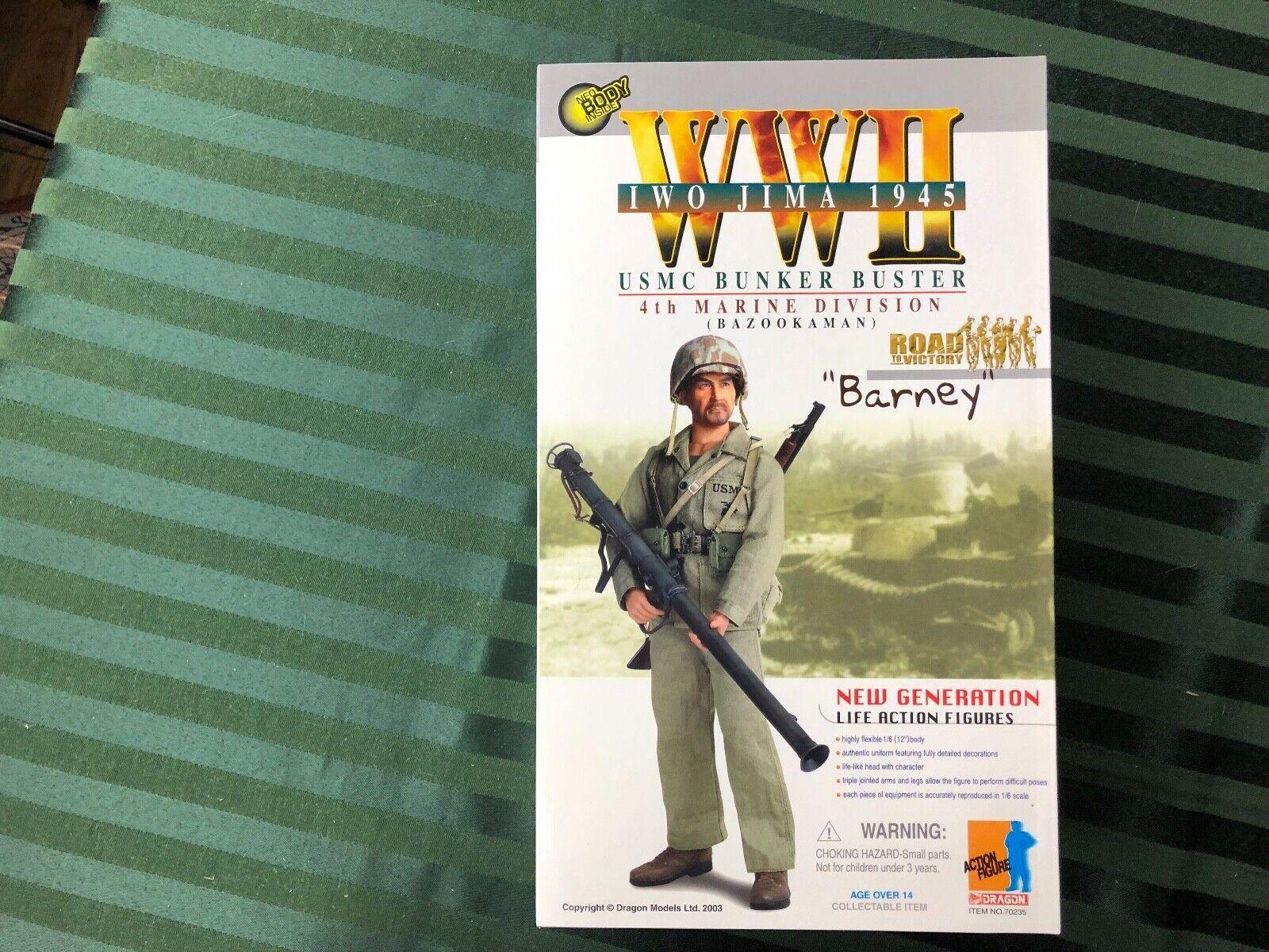 Dragon WWII 4th Marine Division  Bunker autoautobuster Bazookauomo  Barney  Iwo Jima 1945  ti aspetto