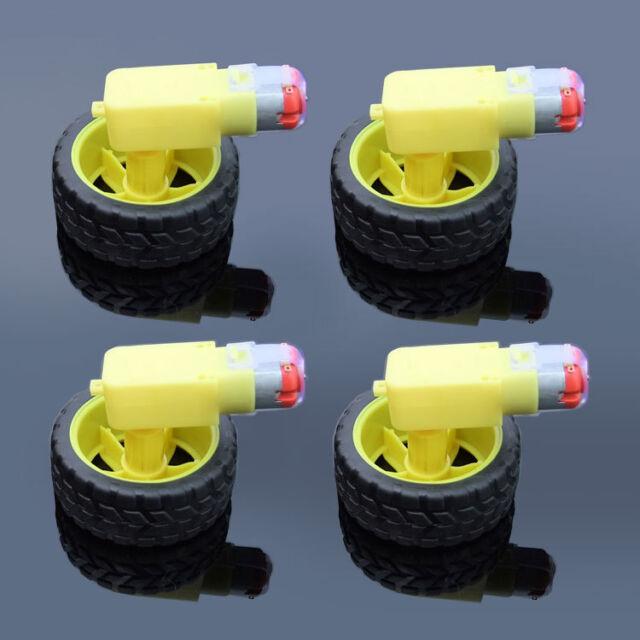 DC 3-6v Gear Motor for arduino Smart Car Robot FF 1//2//5pcs Plastic Tire Wheel