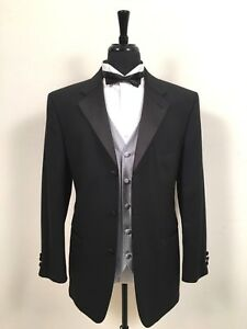 Geoffrey-Beene-Tuxedo-Dinner-Evening-Men-039-s-Formal-Jacket-w-Waist-Coat-Vest-40-R