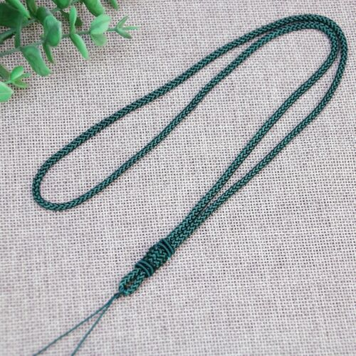 10 Chinese Thread Knotted Silk Love Rope String Pendant Necklace Various Color