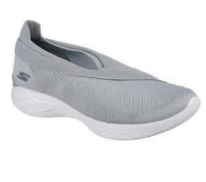 Damen Slipper Skechers You Sommerschuhe Neu Sneakers Freizeitschuhe Grau Luxe wFBd55tq
