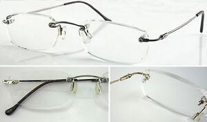 HM06 Superb Quality Rimless Reading Glasses & Flexible ...