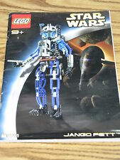 "LEGO Star Wars Technic Set 8011 INSTRUCTION MANUAL ONLY Jango Fett 14"" Figure"