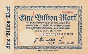 1-Billion-Mark-1923-Reichsbahndirektion-Cassel