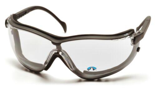 Pyramex V2G Bifocal Clear Readers Anti Fog Foam Padded Safety Glasses//Goggles