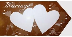 Fleche-40X19-5cm-Indication-Invites-CHOCOLAT-Decoration-carton-de-salle-Mariage