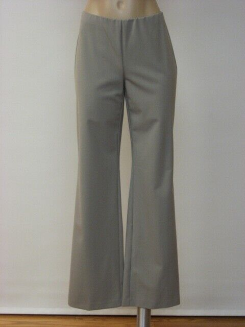EILEEN FISHER NWT Stone Polished Twill No Zipper Straight Pants 4  208
