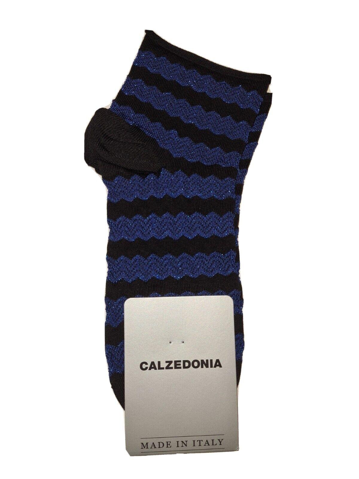 Calzedonia Socken blau-schwarz, Neu, Ovp