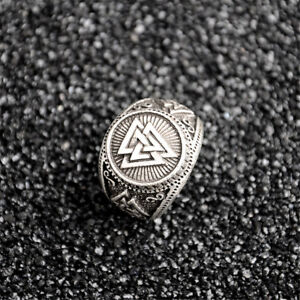 men s viking norse odin ring valknut rings jewellery norse silver