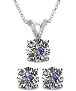 6mm SWAROVSKI® Elements Crystal Solitaire Pendant & Earring Set