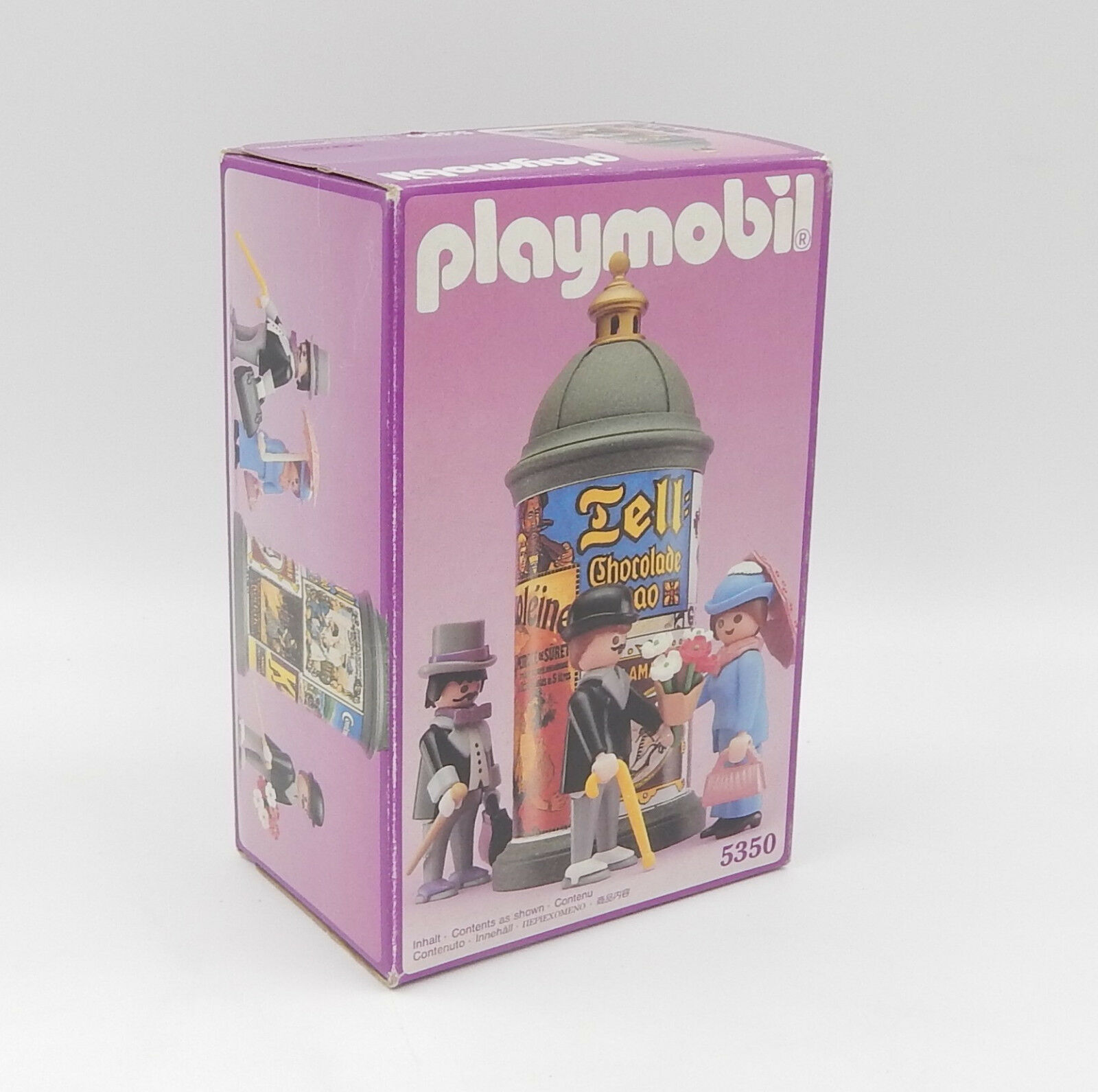 Playmobil 5350 Nostalgie Rosa Serie Litfaßsäule Herren Dame - 1990 - NEU OVP