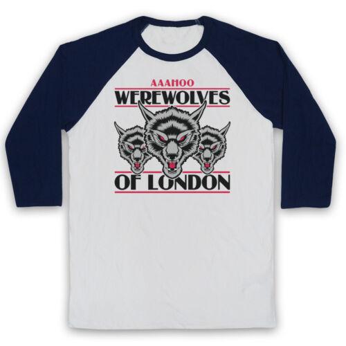 WARREN ZEVON 3 WOLVES UNOFFICIAL WEREWOLVES OF LONDON 3//4 SLEEVE BASEBALL TEE