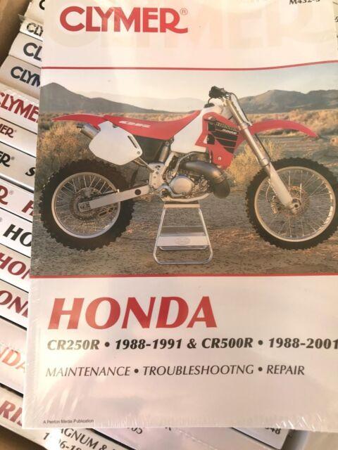 1981-1987 Honda CR250R Repair Manual Clymer M443 Service Shop Garage