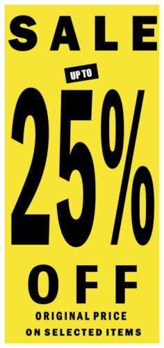 White and Magenta Window Posters And Sale Signs Sale up to 25/%,50/%,75/% Yellow