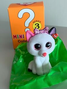 2 INCH TY Beanie Boos Mini Boo MUFFIN the Cat Series 3 Collectible Figure